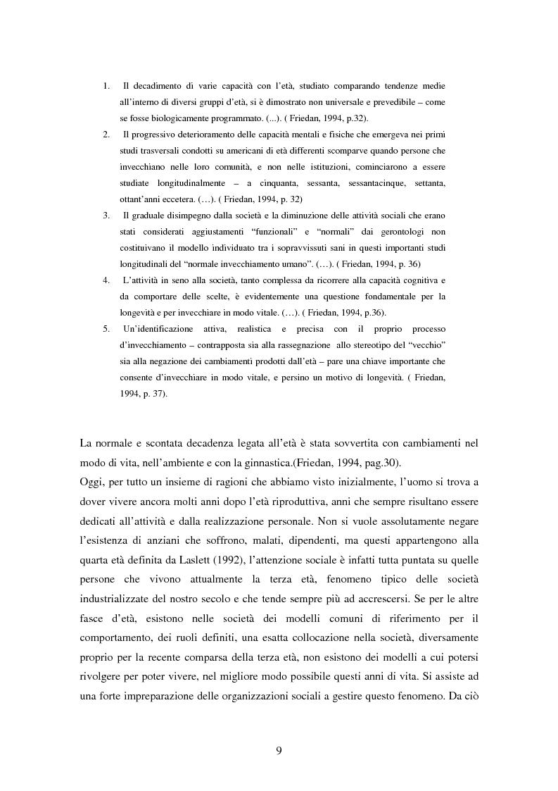 Anteprima della tesi: Internet e gli anziani: come la Rete rappresenta gli anziani e come gli anziani utilizzano la Rete, Pagina 7