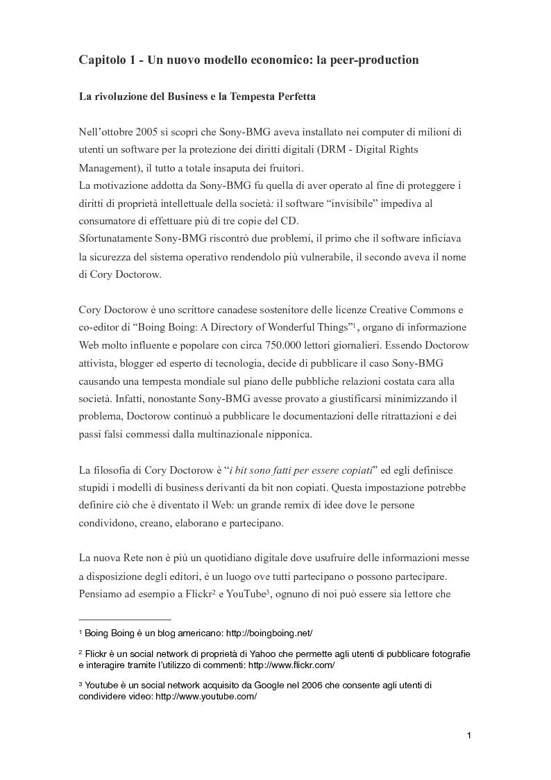 Anteprima della tesi: Il web e le nuove frontiere della comunicazione aziendale: Internet PR e Social Network, Pagina 1