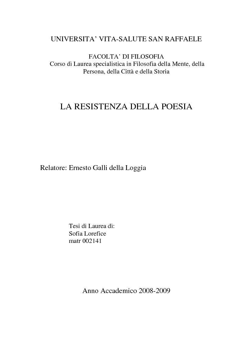 Anteprima tesi laurea liv ii specialistica la - Costo resistenza scaldabagno ...