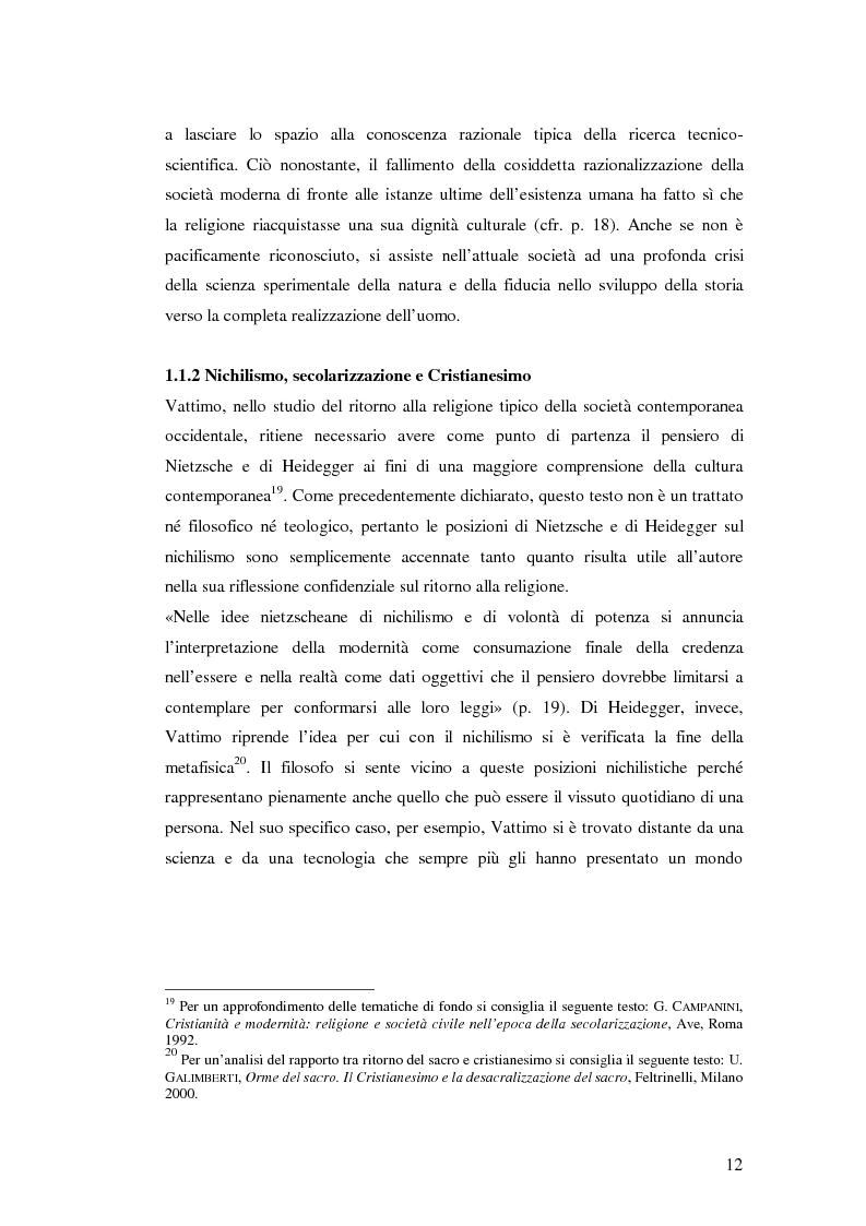 Estratto dalla tesi: «Credere di Credere» di G. Vattimo e «Pensieri sul cristianesimo» di E. Severino: Confronto con il cristianesimo?