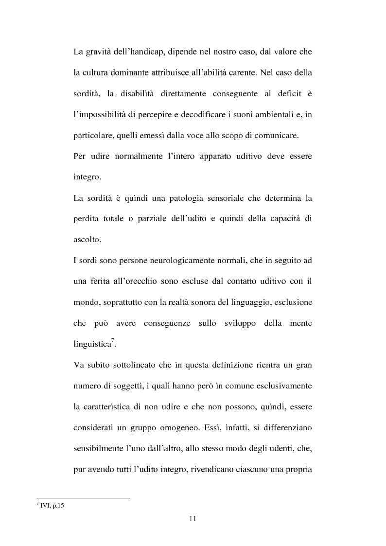 Anteprima della tesi: La voce del silenzio: un viaggio visivo ed educativo nel mondo dei sordi, Pagina 10