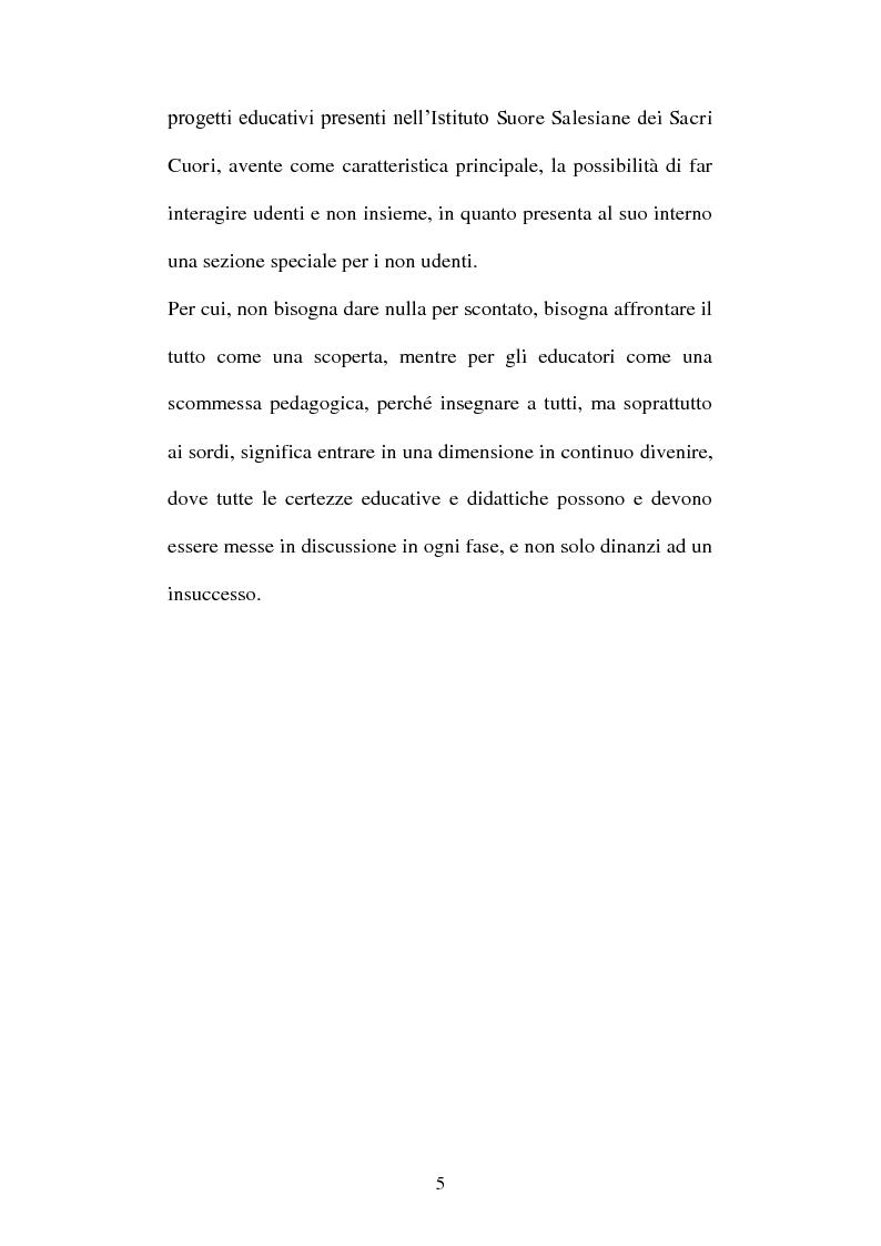 Anteprima della tesi: La voce del silenzio: un viaggio visivo ed educativo nel mondo dei sordi, Pagina 4