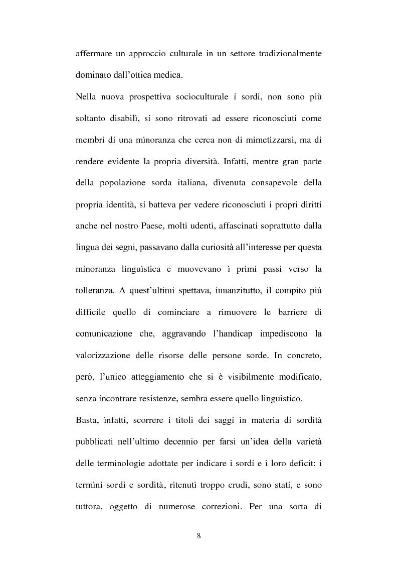 Anteprima della tesi: La voce del silenzio: un viaggio visivo ed educativo nel mondo dei sordi, Pagina 7