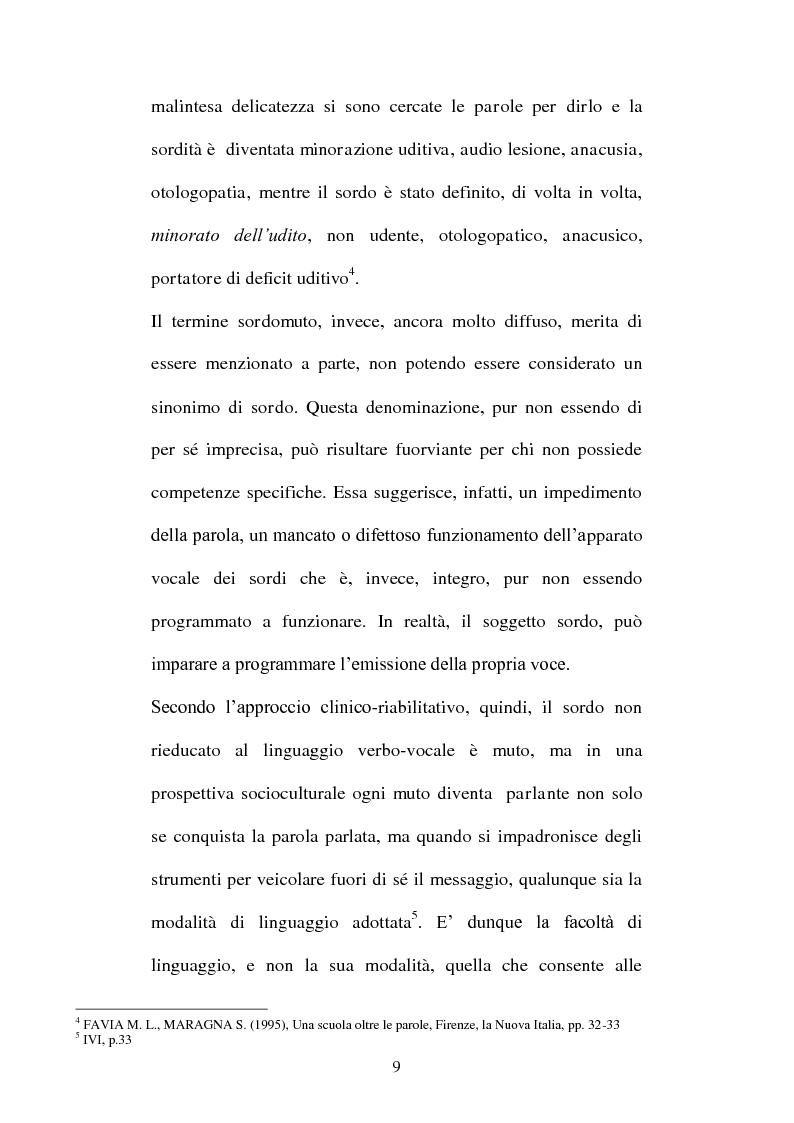 Anteprima della tesi: La voce del silenzio: un viaggio visivo ed educativo nel mondo dei sordi, Pagina 8