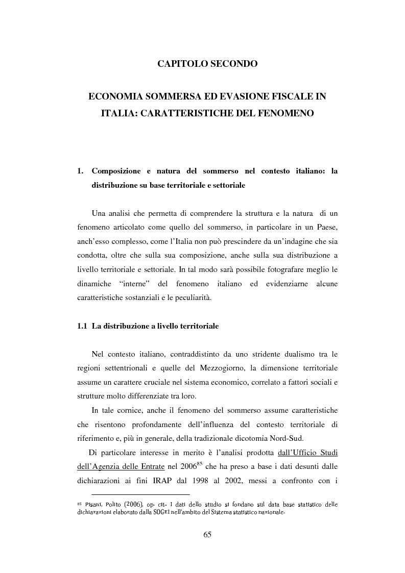 Economia sommersa ed evasione fiscale: il caso italiano - Tesi di Laurea