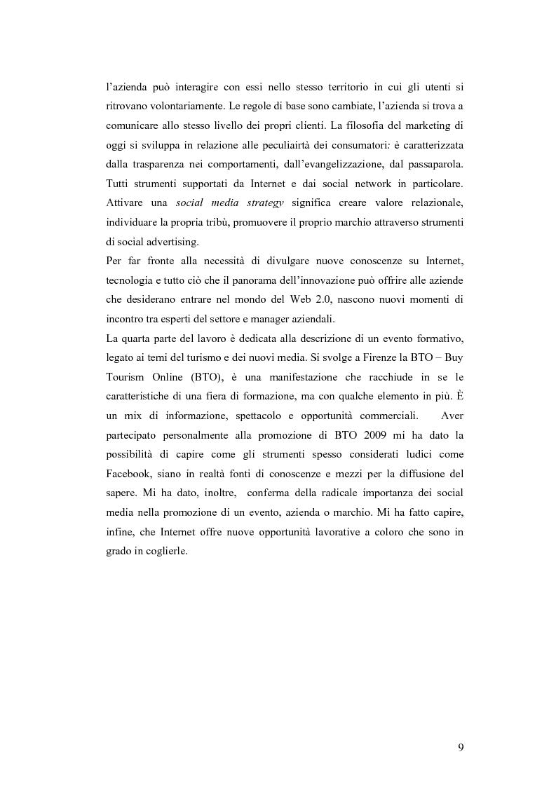 Anteprima della tesi: Il turismo nell'era del Web 2.0, Pagina 5