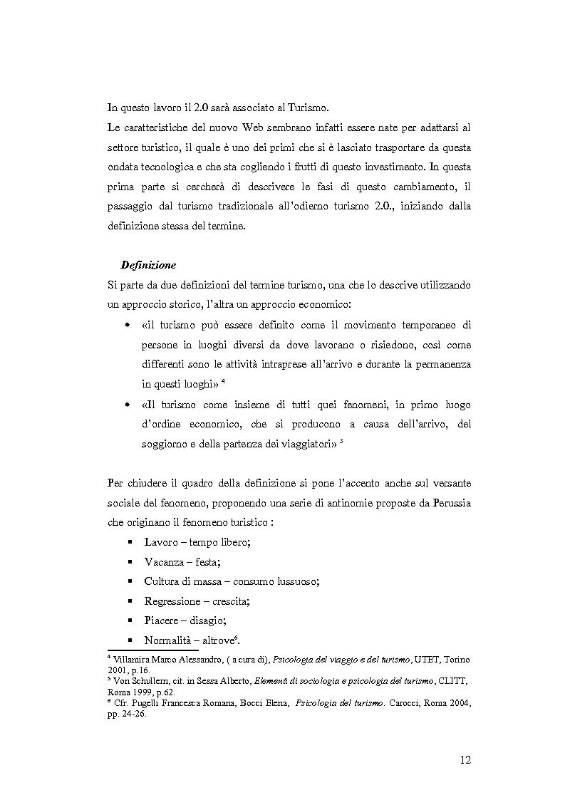 Anteprima della tesi: Il turismo nell'era del Web 2.0, Pagina 8