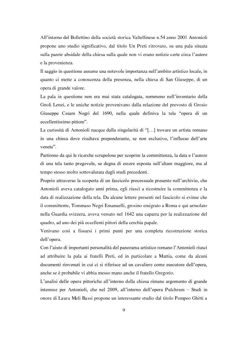 Estratto dalla tesi: La chiesa parrocchiale di San Giuseppe a Grosio