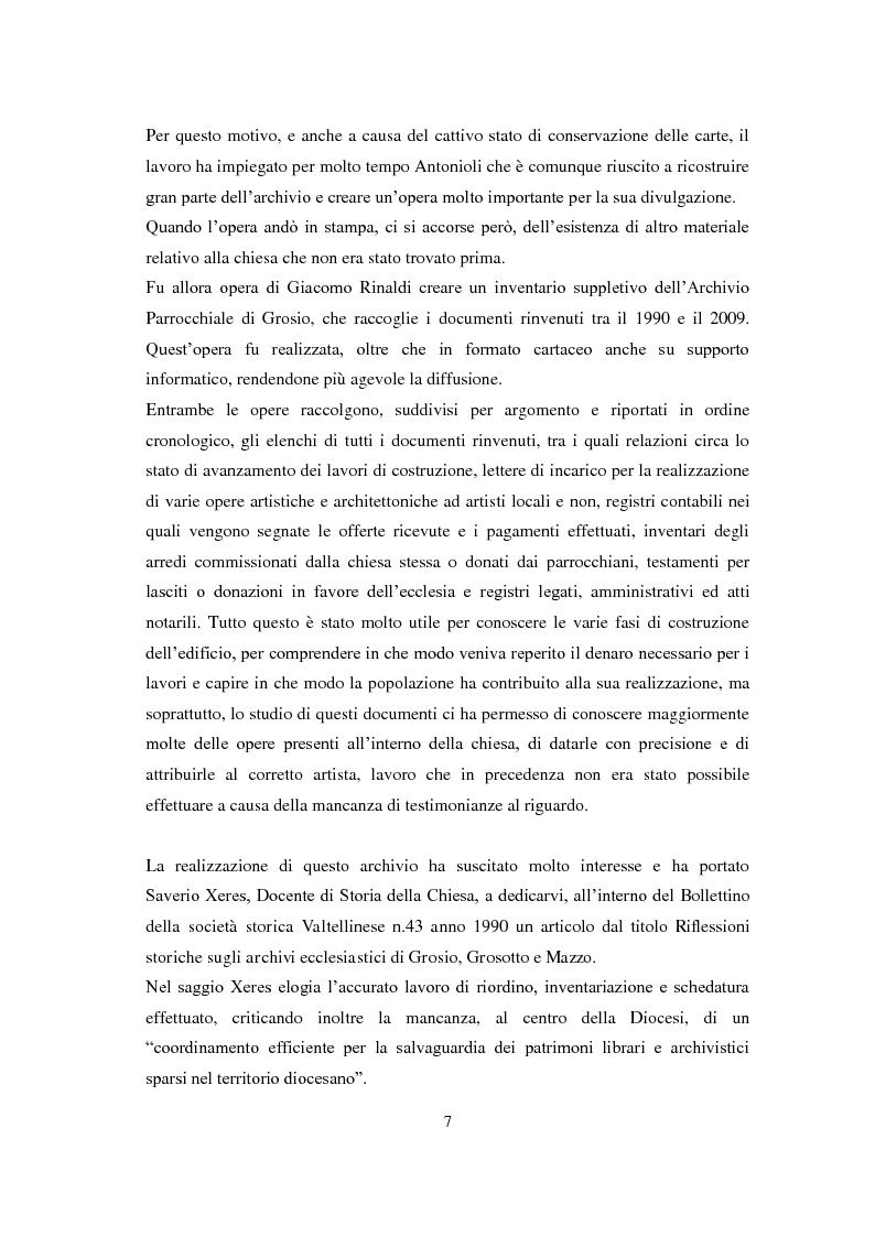 Anteprima della tesi: La chiesa parrocchiale di San Giuseppe a Grosio, Pagina 5