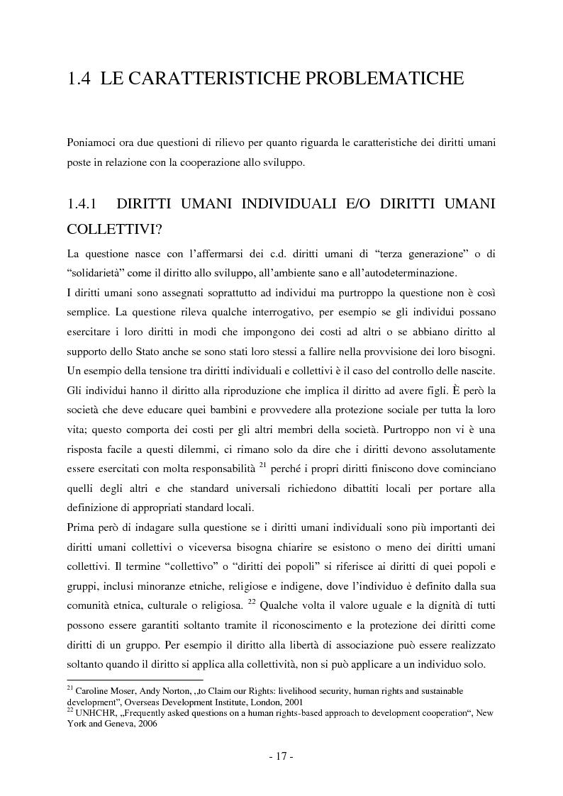Anteprima della tesi: I diritti umani nella cooperazione internazionale allo sviluppo. L'approccio basato sui diritti umani., Pagina 2