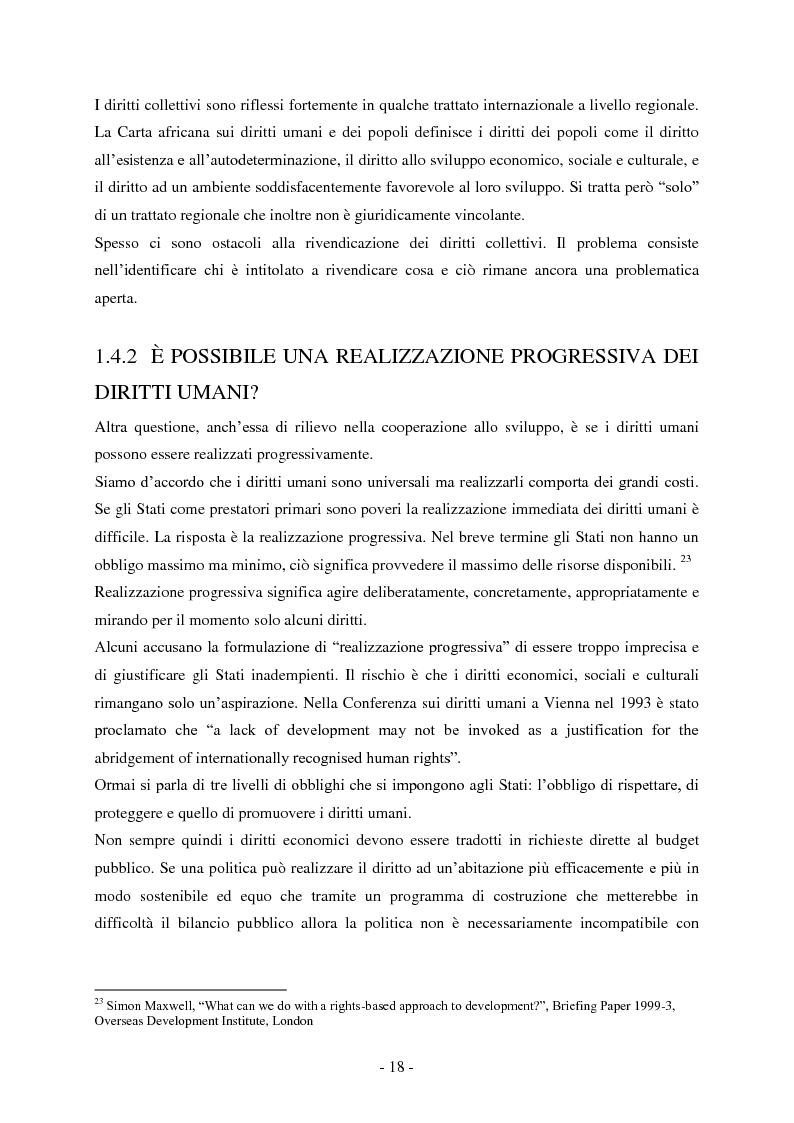 Anteprima della tesi: I diritti umani nella cooperazione internazionale allo sviluppo. L'approccio basato sui diritti umani., Pagina 3