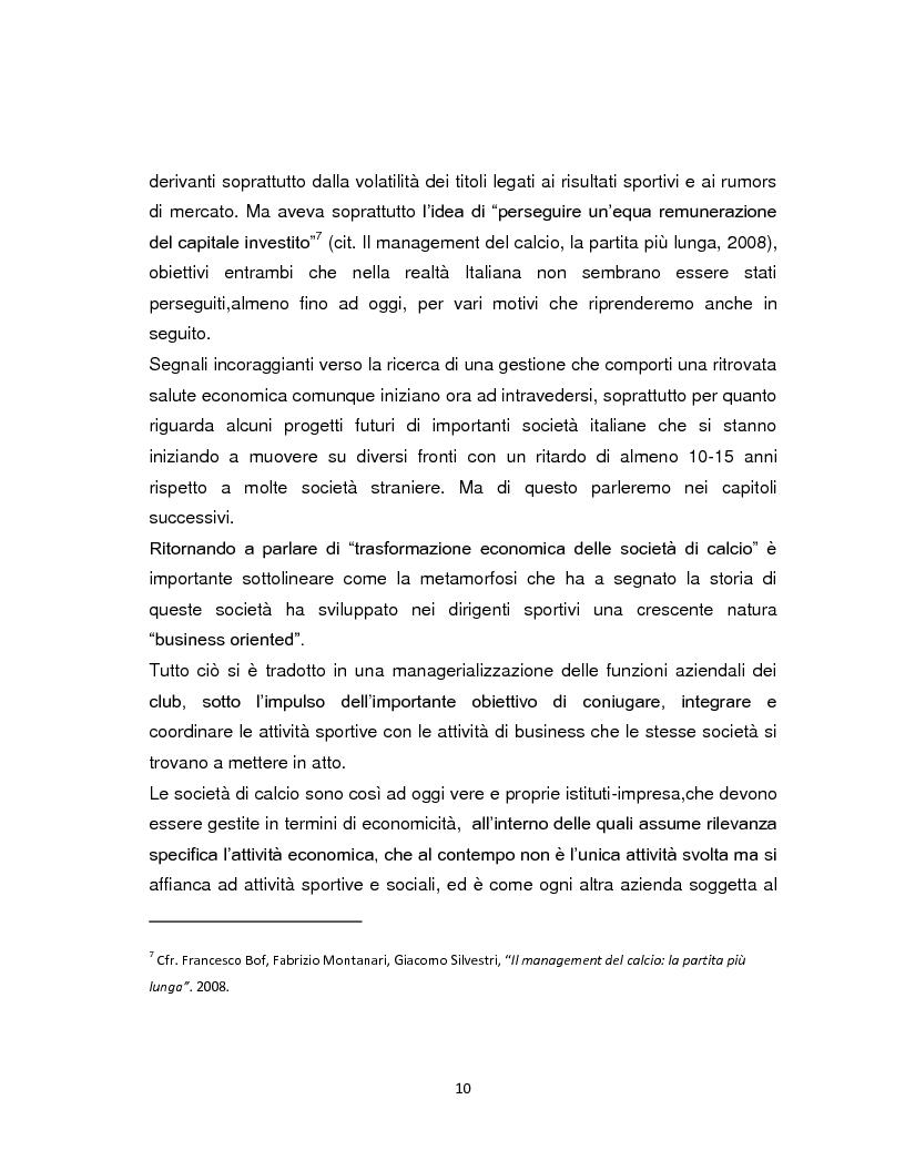 Anteprima della tesi: La crisi di spettatori della serie A italiana di calcio. Analisi delle cause e strategie future per ripopolare gli stadi., Pagina 7