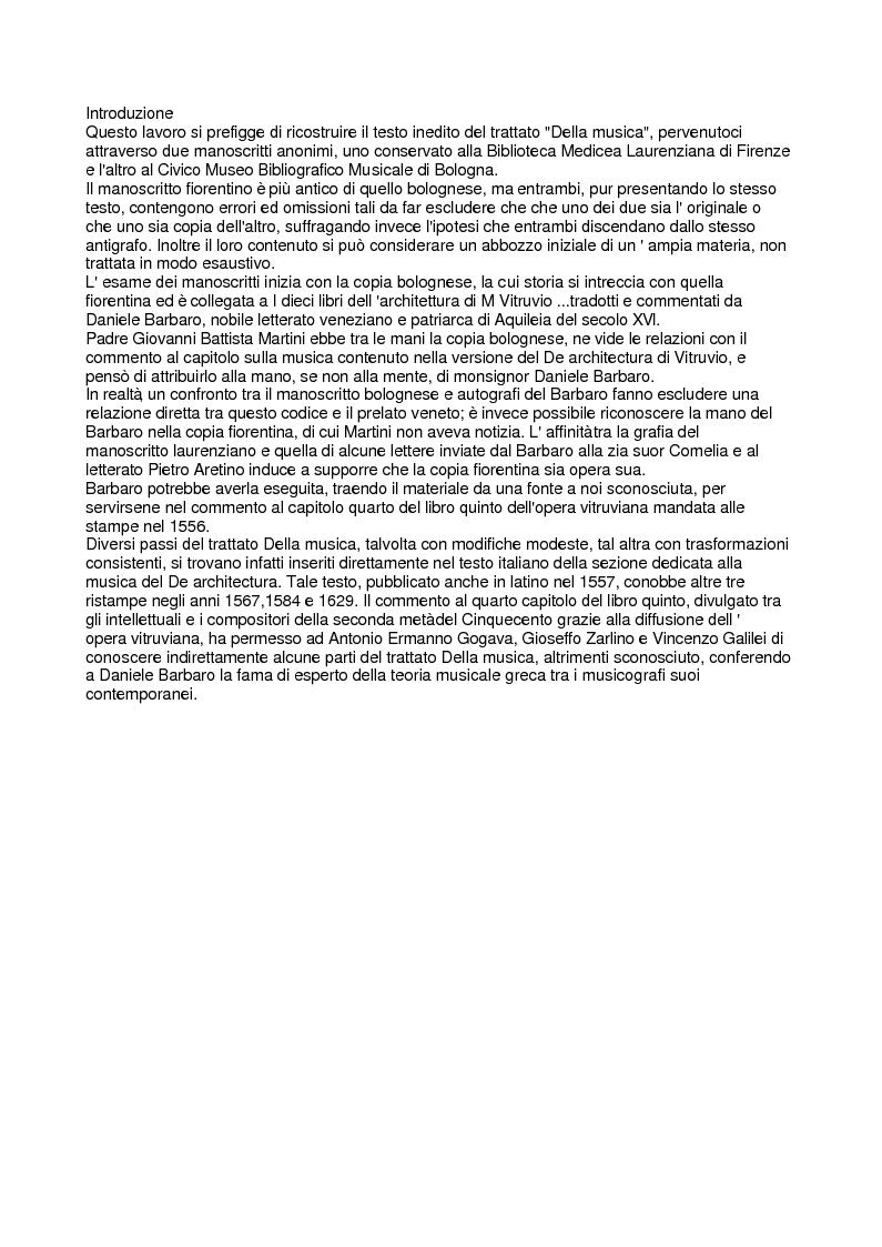 Il trattato della musica attribuito a monsignor daniele for Nascondi esperto