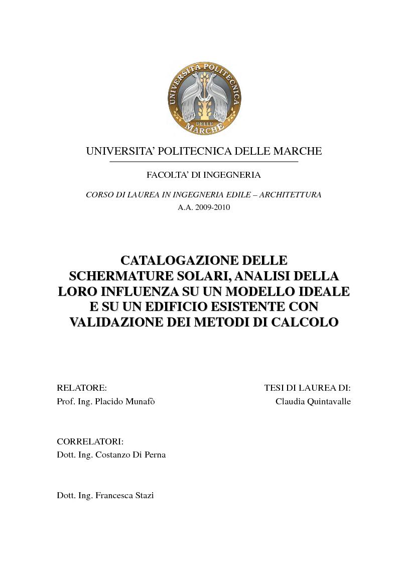 Laurea thesis