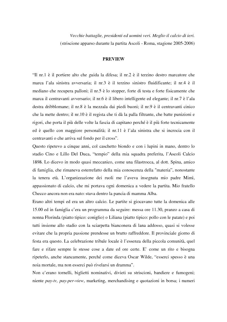 Calcio ed economia: scenario competitivo, finanza e strategie di crescita - Tesi di Laurea