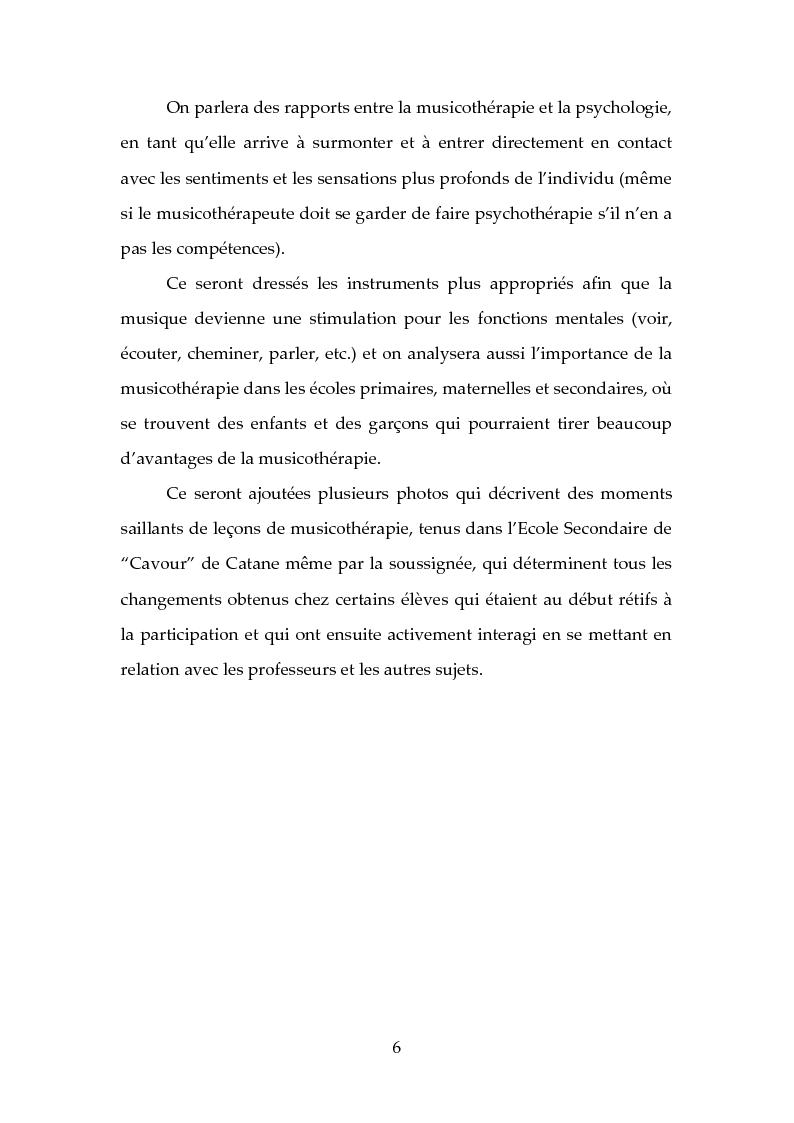 Anteprima della tesi: L'origine, les methodes, les instrument et les buts de la musicotherapie, Pagina 3