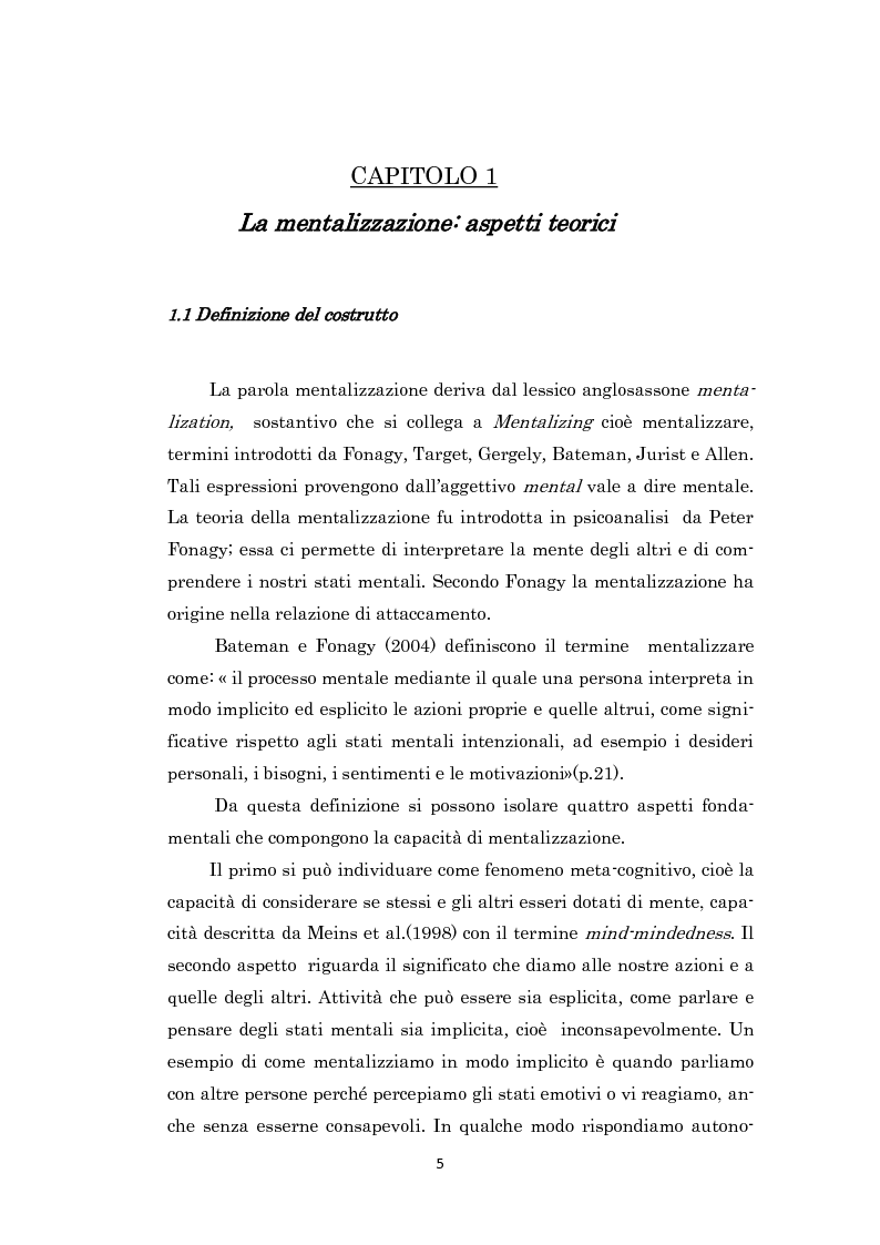 Anteprima della tesi: L'impatto del maltrattamento sulla capacità di mentalizzazione, Pagina 4