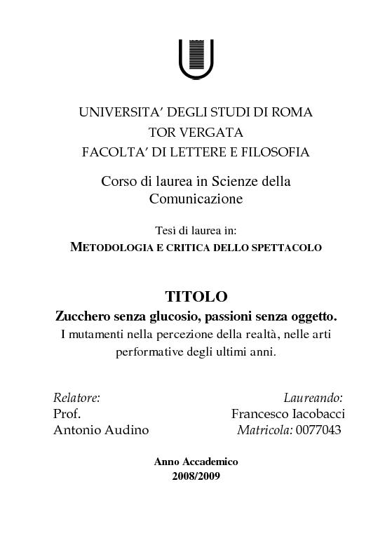 Universita degli studi di roma tor vergata facolta di for Design della comunicazione universita