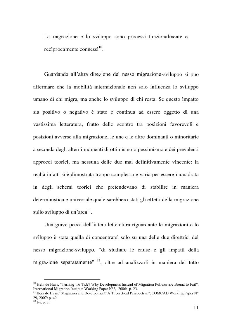 Anteprima della tesi: Vincoli finanziari e vincoli di sviluppo alle migrazioni internazionali. Un approfondimento della migration hump, Pagina 12