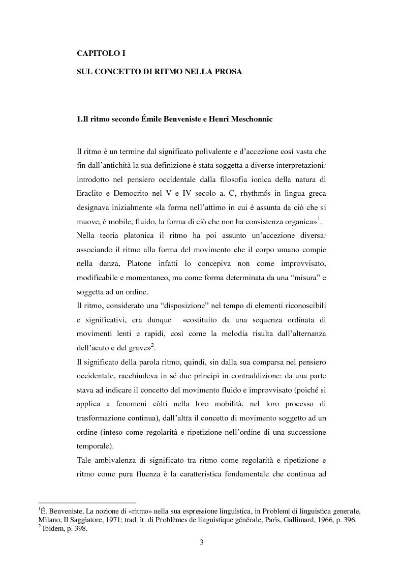 Strutture metriche e ritmo narrativo nella prosa di Silvio D'Arzo - Tesi di Laurea