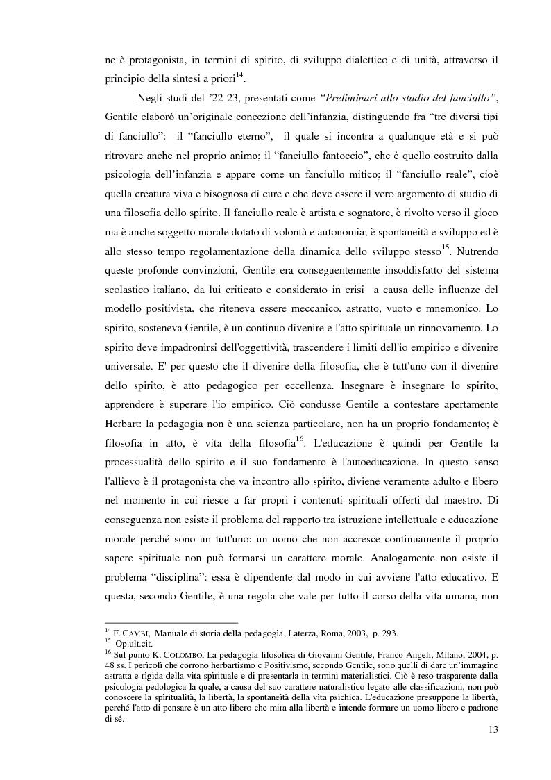 Estratto dalla tesi: Il sistema scolastico ed educativo nel periodo fascista: dalla riforma Gentile alla Carta della scuola