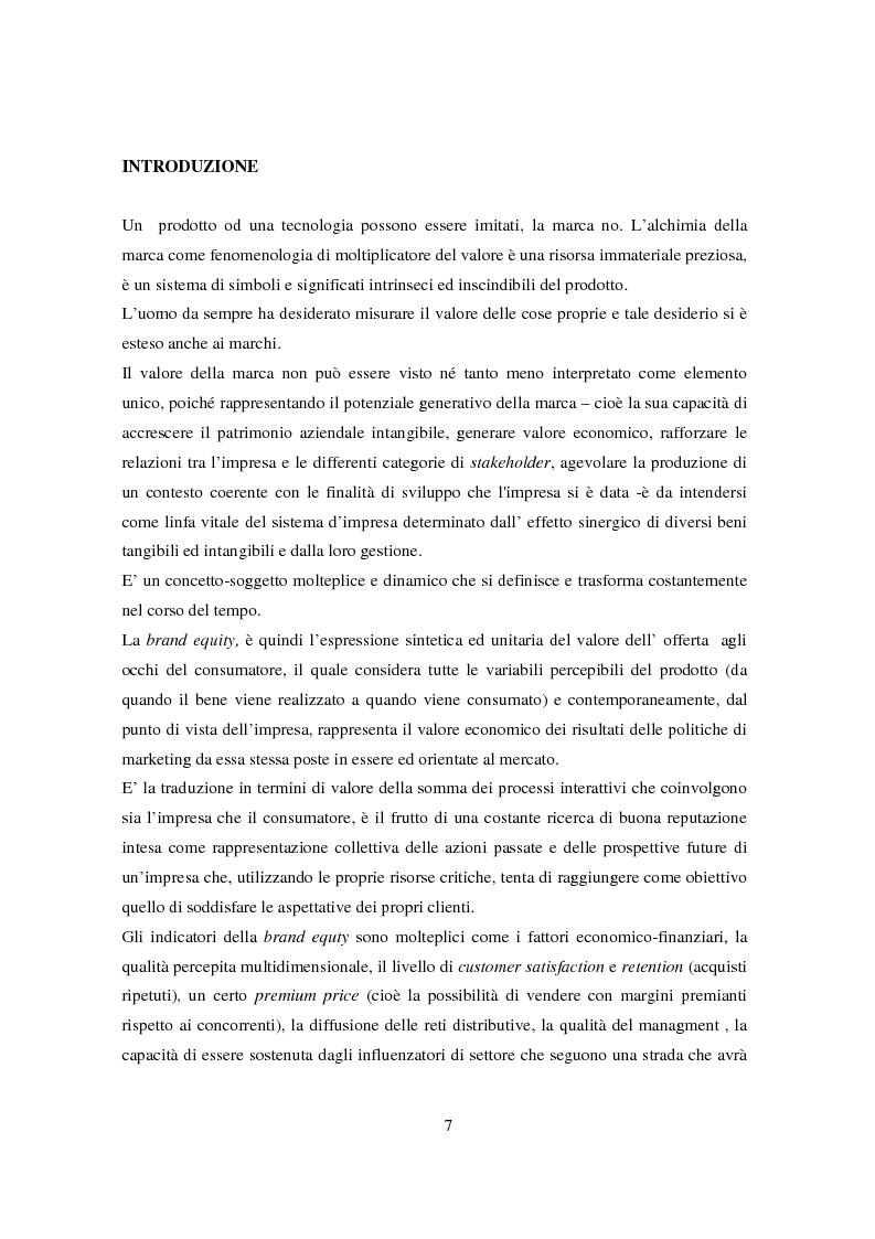 Anteprima della tesi: La gestione del valore della marca, Pagina 2
