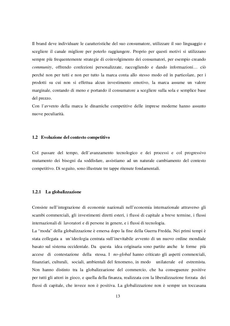 Anteprima della tesi: La gestione del valore della marca, Pagina 8