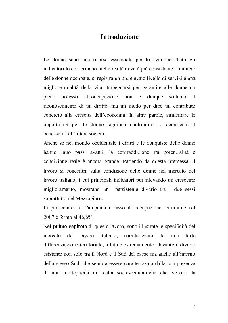 Il percorso ad ostacoli delle donne nel mercato del lavoro italiano - Tesi di Laurea