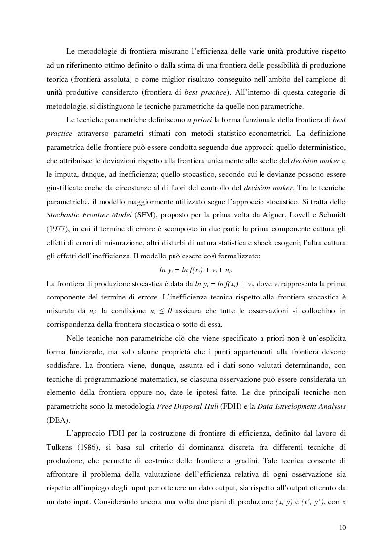 Anteprima della tesi: L'efficienza del settore pubblico: analisi empirica sui capoluoghi di regione italiani, Pagina 8