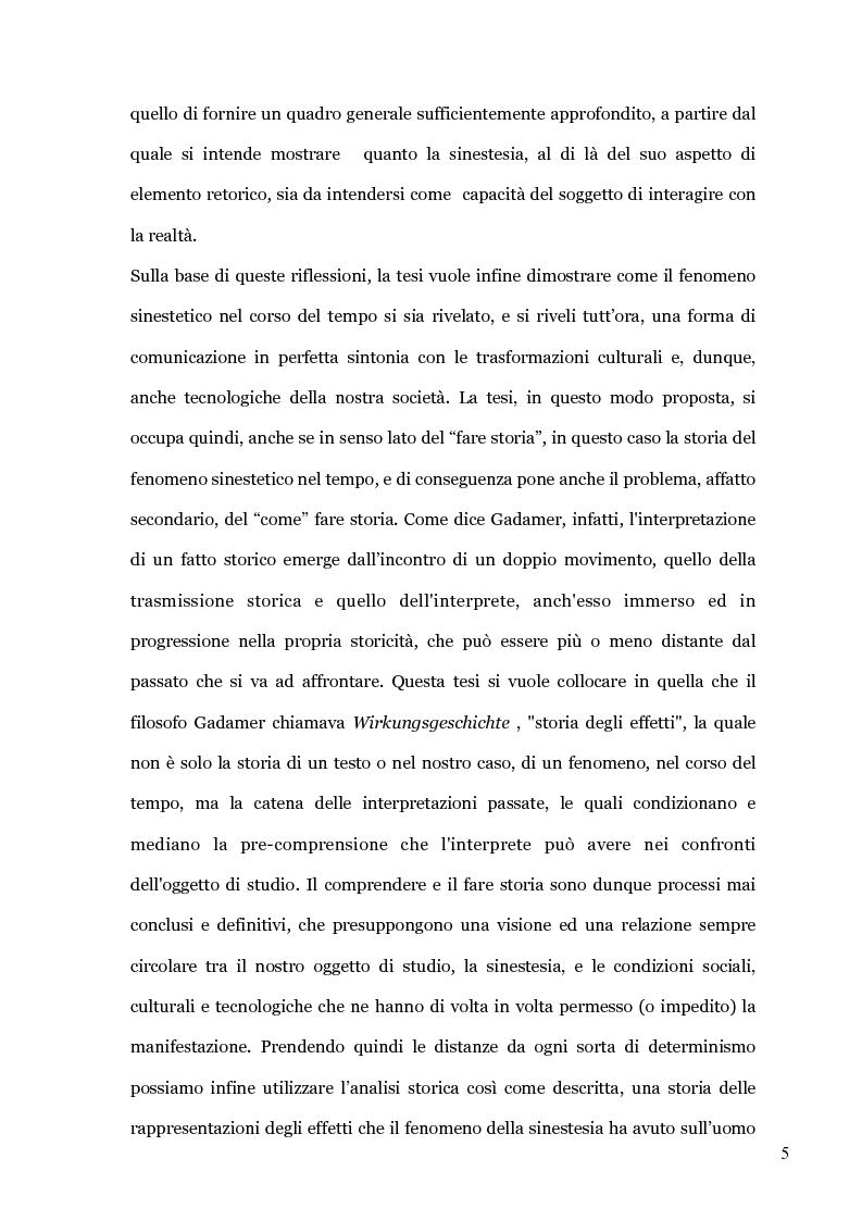 Anteprima della tesi: Il colore dei suoni. Un incantesimo percettivo. , Pagina 3