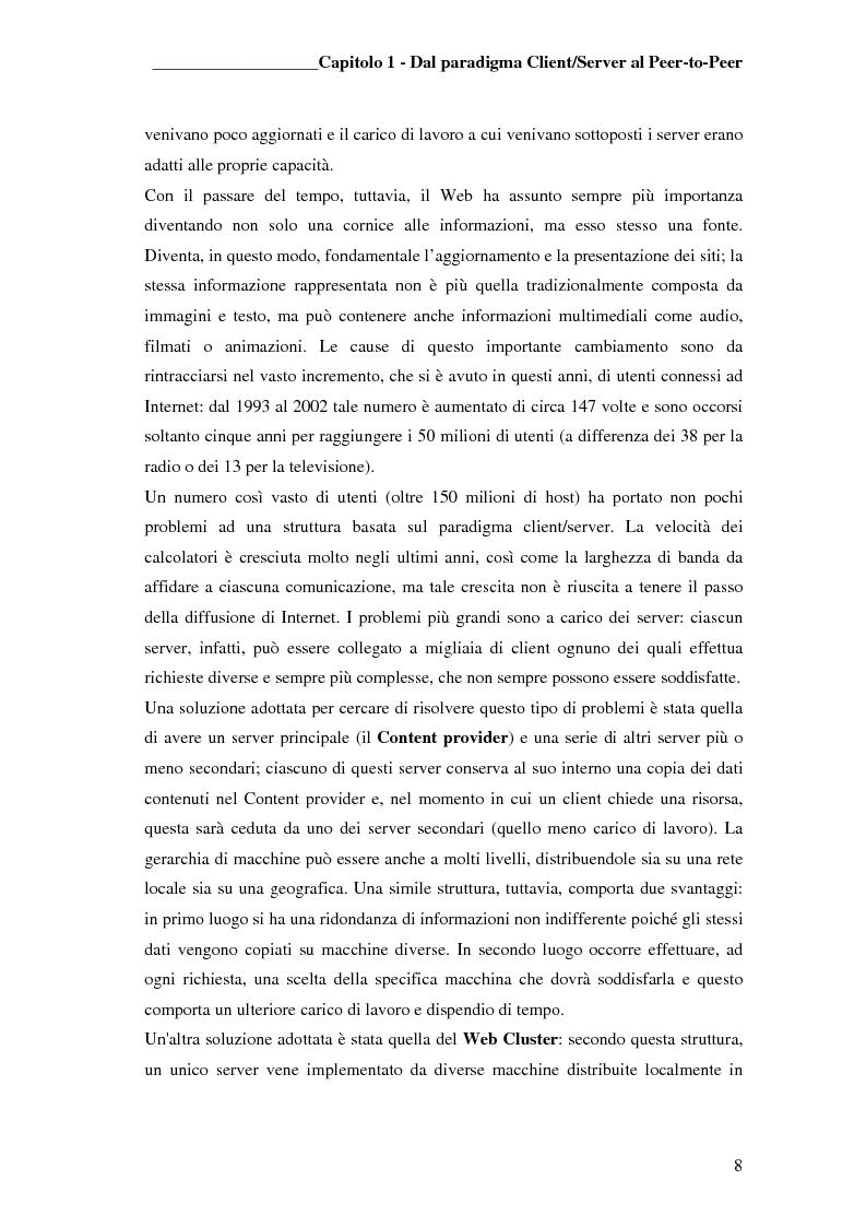 Anteprima della tesi: Prototipo di file sharing basato su tecnologia JXTA e reti Peer-to-Peer, Pagina 6