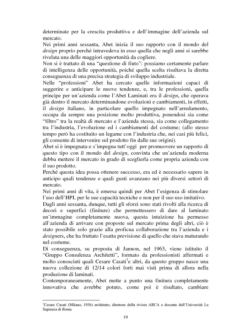 Estratto dalla tesi: Abet Laminati S.p.A. 1957-2009: Dall'Italia al mondo. Cinquant'anni di ricerca ed internazionalizzazione