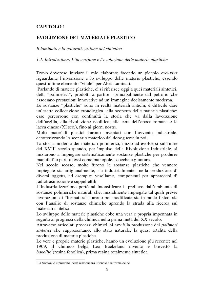 Anteprima della tesi: Abet Laminati S.p.A. 1957-2009: Dall'Italia al mondo. Cinquant'anni di ricerca ed internazionalizzazione, Pagina 2