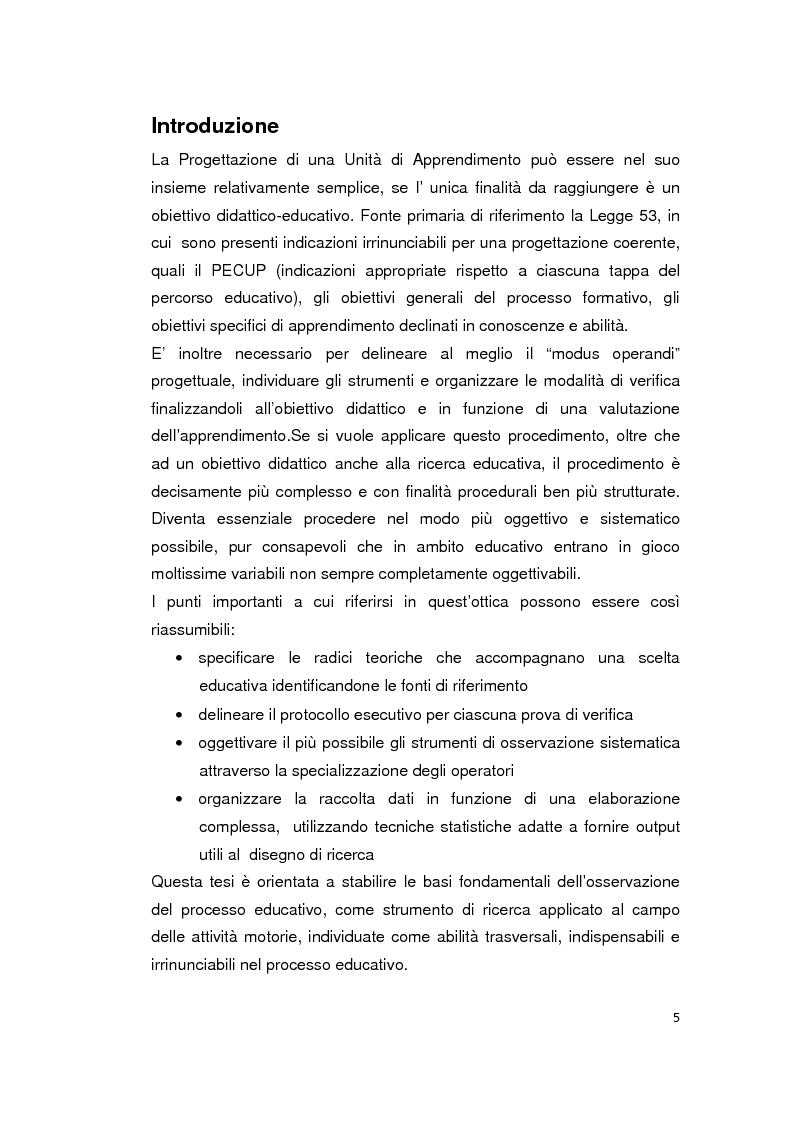 L'osservazione nel processo educativo: dalle radici teoriche alla costruzione scientifica dell'unit� di apprendimento - ...