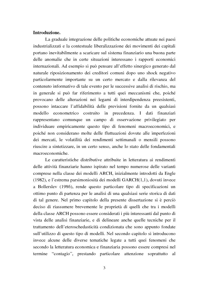 Verifica dell'ipotesi di contagio tramite Gretl: una analisi empirica degli spillover tra mercati finanziari basata sui ...