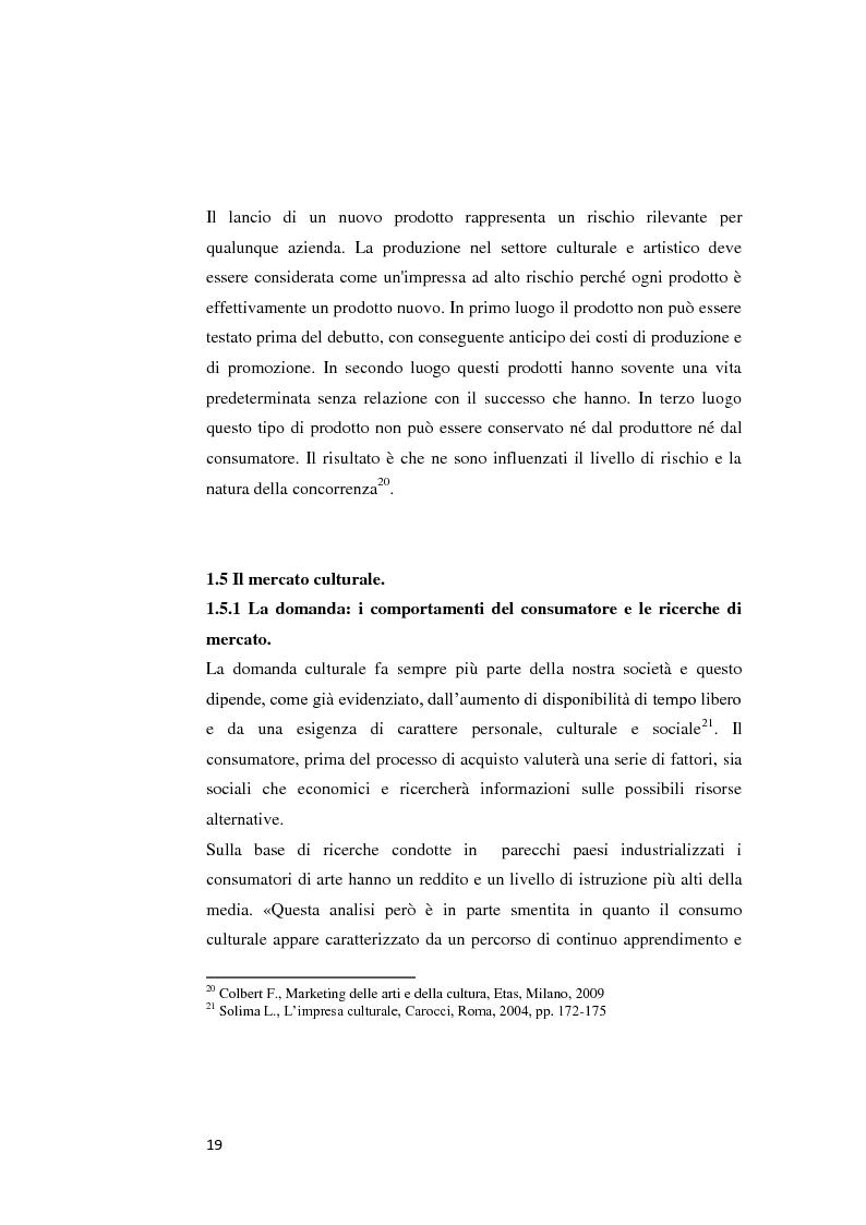 Anteprima della tesi: Il web marketing culturale. Indagine sulla realtà dei musei civici italiani., Pagina 9