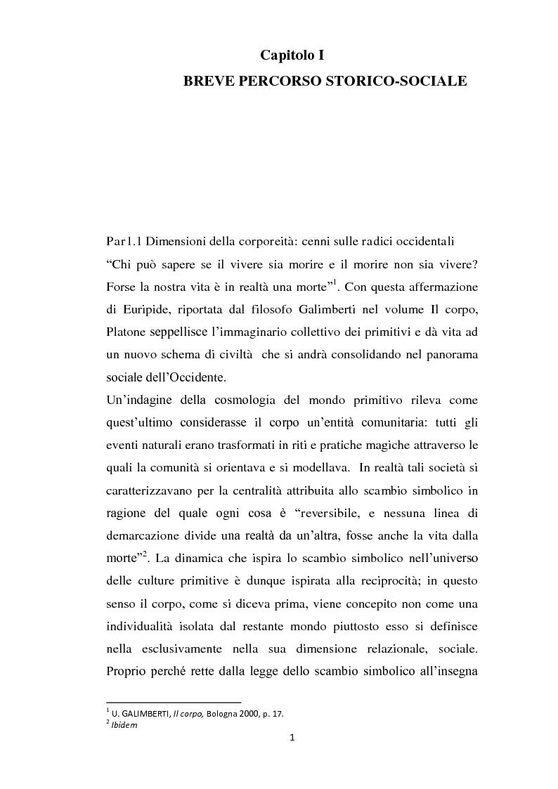 Dimensioni della coorporeit� tra etica diritti e tecnologie - Tesi di Laurea