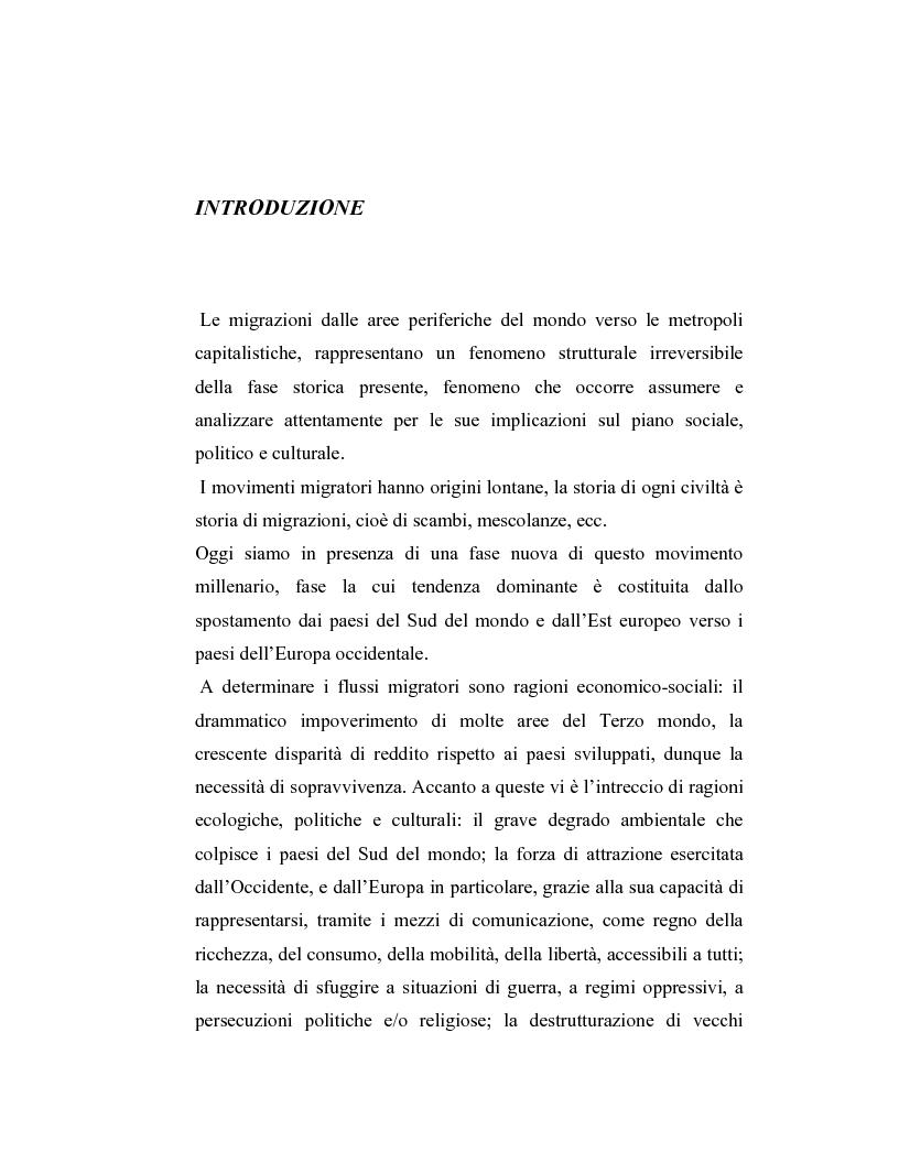 Anteprima della tesi: La criminalità dei minori stranieri e l'intervento sociale, Pagina 1