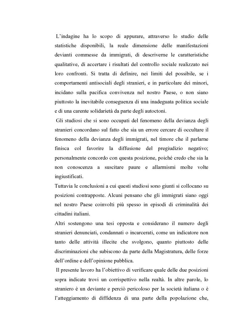 Anteprima della tesi: La criminalità dei minori stranieri e l'intervento sociale, Pagina 11