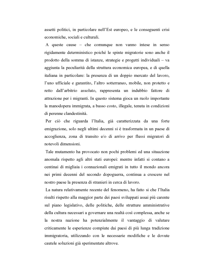 Anteprima della tesi: La criminalità dei minori stranieri e l'intervento sociale, Pagina 2