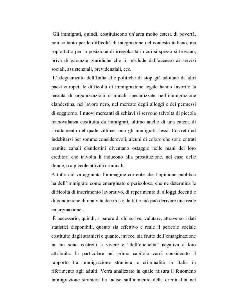 Anteprima della tesi: La criminalità dei minori stranieri e l'intervento sociale, Pagina 7