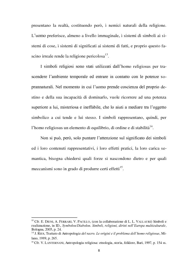 Anteprima della tesi: I Simboli Religiosi nella Giurisprudenza Italiana, Pagina 7