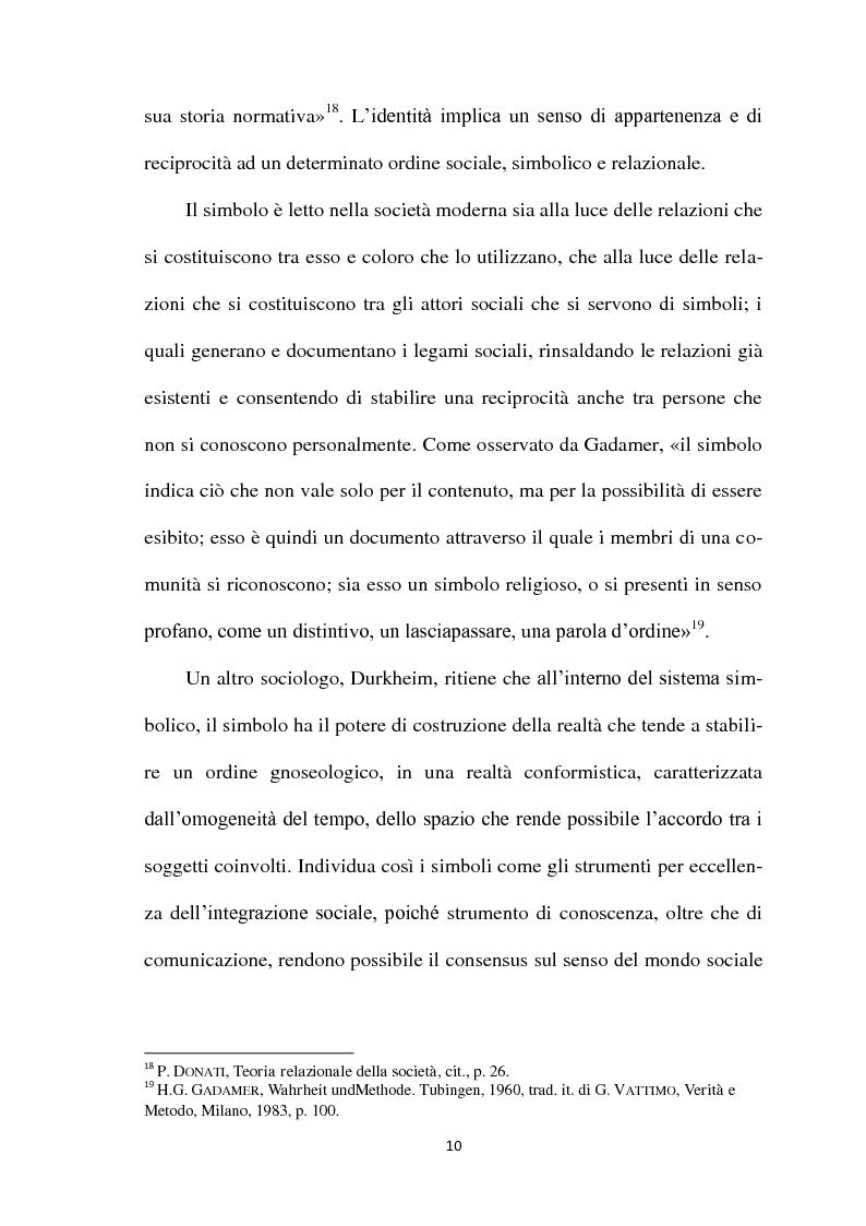 Anteprima della tesi: I Simboli Religiosi nella Giurisprudenza Italiana, Pagina 9