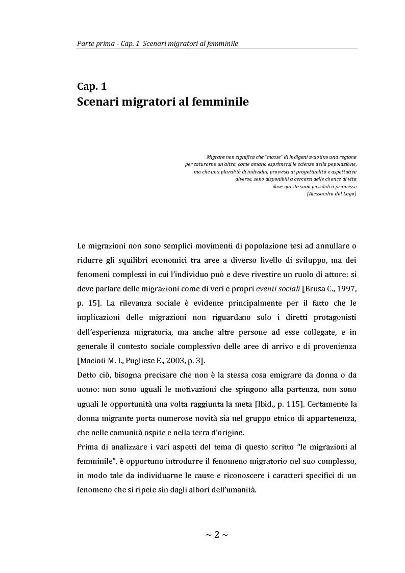 Migrazioni di genere: il caso senegalese - Tesi di Laurea