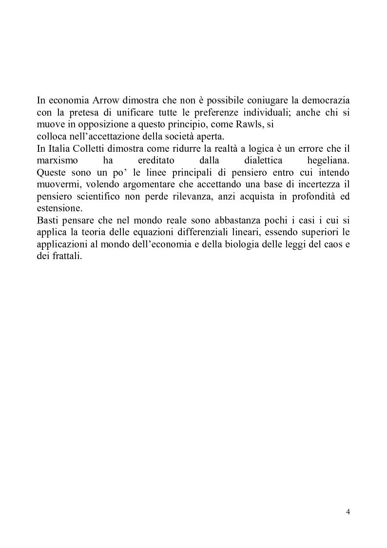 Anteprima della tesi: Determinismo e incertezza nelle scienze fisiche e sociali, Pagina 5