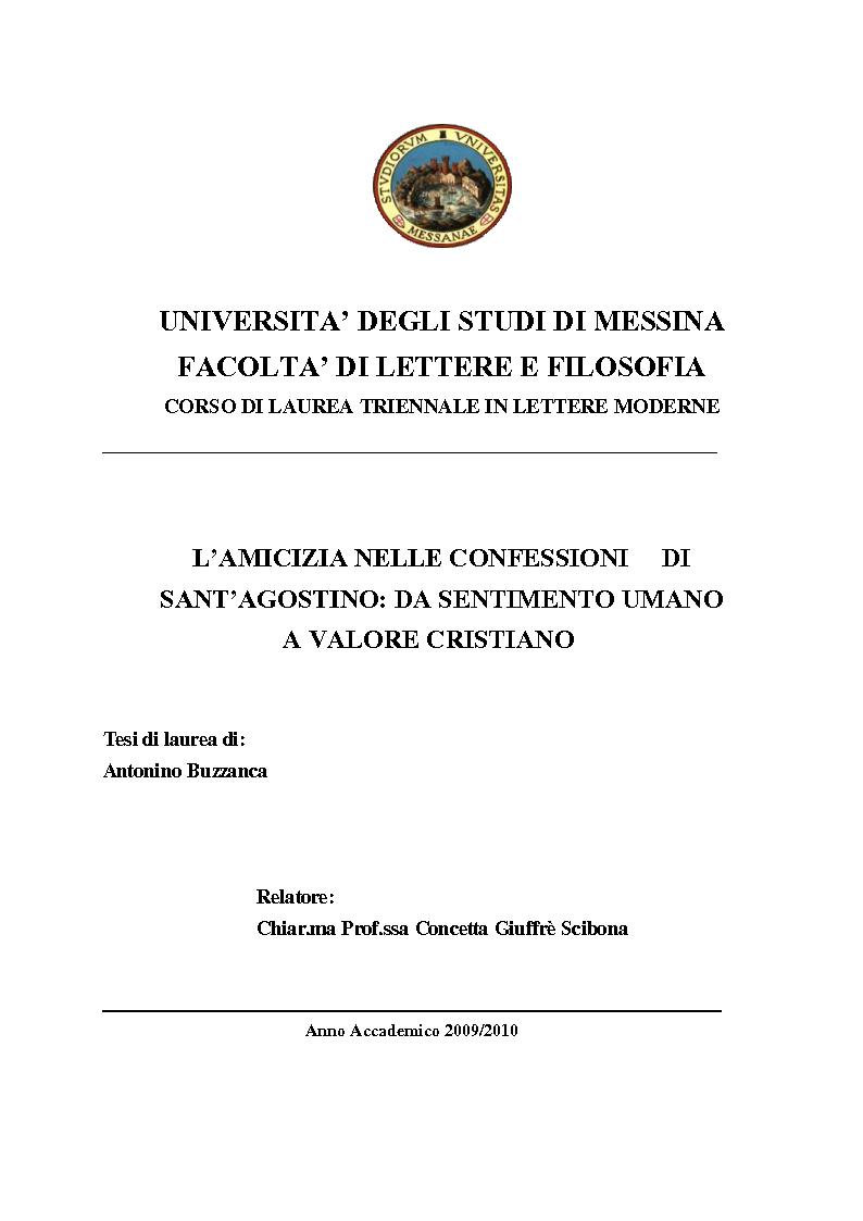 Universita degli studi di messina facolta di lettere e for Lettere moderne