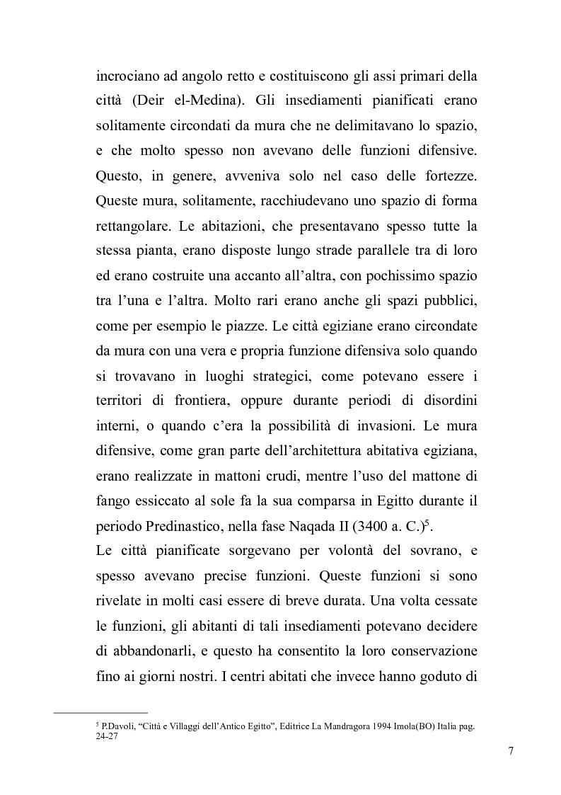 Anteprima della tesi: Fenomeni dell'urbanesimo nell'antico Egitto, Pagina 8