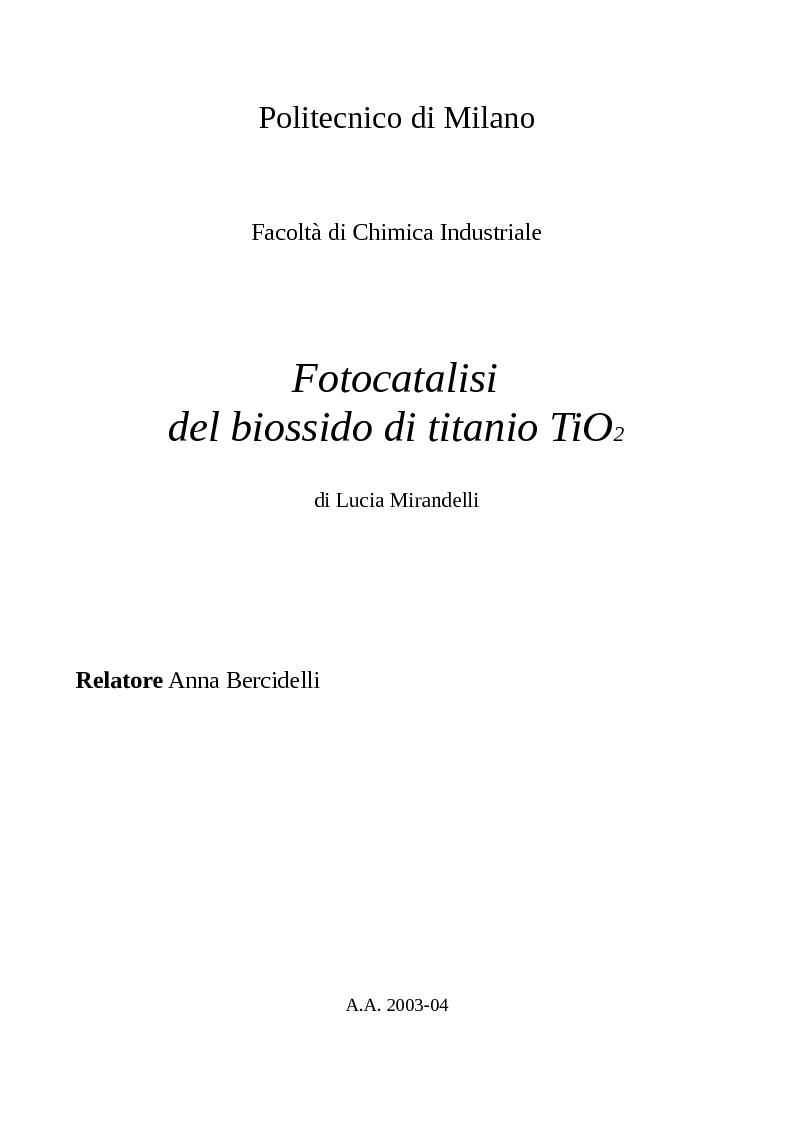 Anteprima tesi laurea liv ii specialistica for Politecnico milano iscrizione