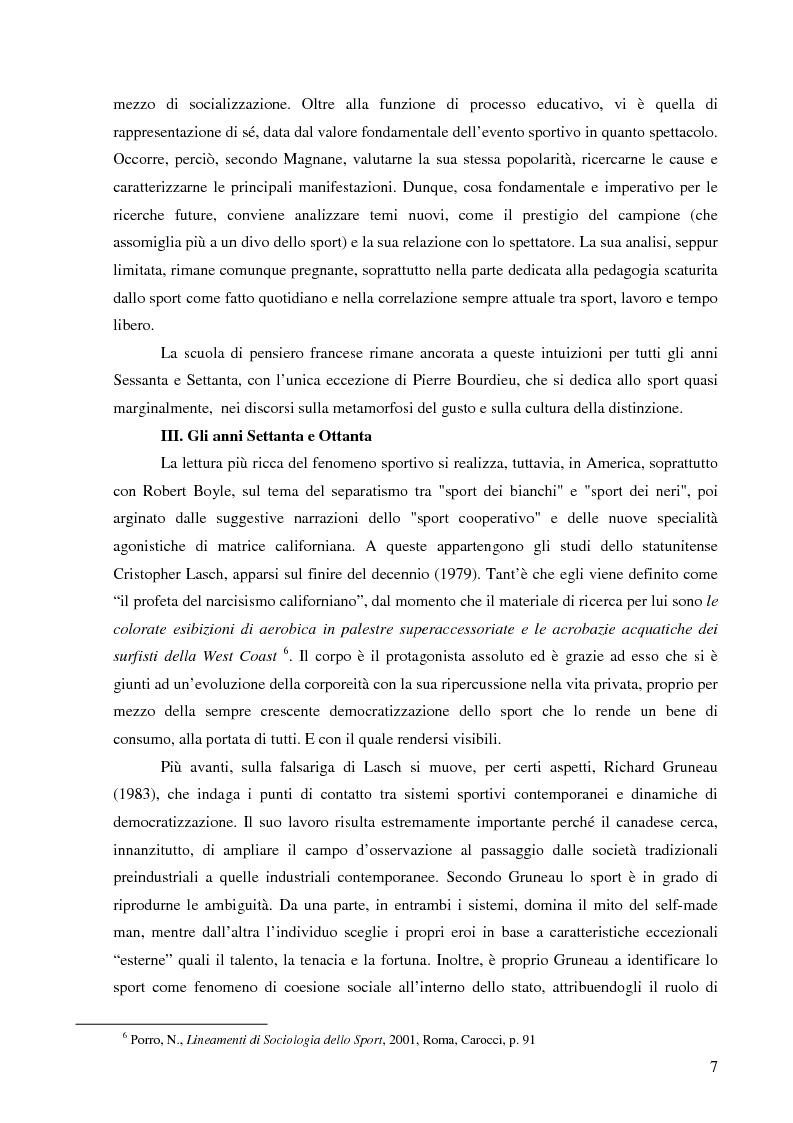Anteprima della tesi: Pratica sportiva, appartenenza e cittadinanza: il caso degli oriundi nel rugby, Pagina 8