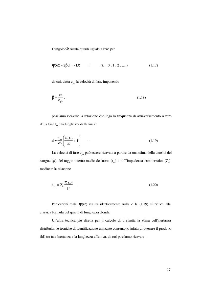 Anteprima della tesi: Analisi dell'impedenza di ingresso dell'aorta discendente mediante linea idraulica viscoelastica chiusa su un carico complesso, Pagina 14